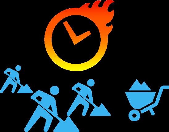 無駄な時間の削減と作業の効率化